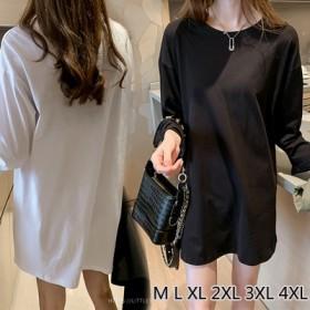 2019年秋の新作韓国ファッションコレクション韓国ファッションTシャツワンピース