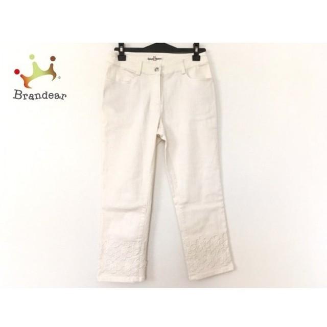 ギャラリービスコンティ パンツ サイズ1 S レディース 美品 アイボリー 刺繍/花柄   スペシャル特価 20200110