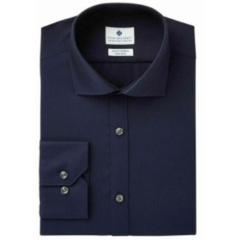 Ryan  ファッション ドレス RYAN SEACREST NEW Blue Mens Size 14 1/2 Slim Fit Stretch Texture Shirt