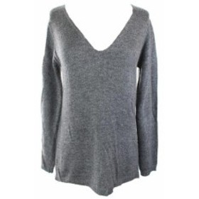 ファッション トップス Studio M New Steel Open-Stitch V-Neck Sweater S