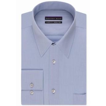ファッション ドレス Geoffrey Beene Mens Dress Shirt Blue 17 1/2 Pinstripe Textured Non-Iron