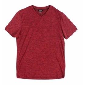 HEATHER  ファッション トップス Alfani NEW Red Mens Small S Heather Moisture Wicking V Neck T-Shirt