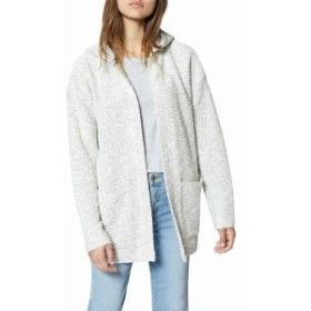 Sanctuary サンクチュアリ ファッション トップス Sanctuary Womens White Size XS Hooded Open Front Cardigan Sweater