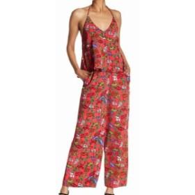 philosophy フィロソフィー ファッション ジャンプスーツ Philosophy Womens Jumpsuit Pink Size 10 Floral Print Popover Wide-Leg