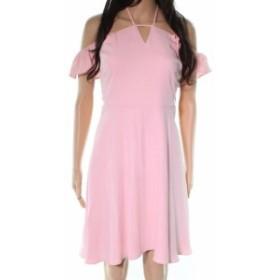 CeCe  ファッション ドレス CeCe NEW Pink Flutter Halter Sleeve Womens Size 00 A-Line Dress