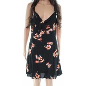 ファッション ドレス Socialite Black Floral Print Women Large L Fit & Flare A-Line Dress