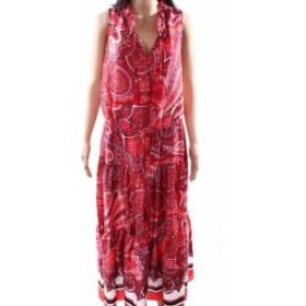 Maxi  ファッション ドレス LAUREN BY RALPHJ LAUREN NEW Red Womens Size 10 Paisley Maxi Dress
