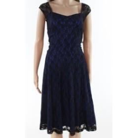 ファッション ドレス Dress Tells NEW Black Blue Womens Size XXL Floral Lace A-Line Dress