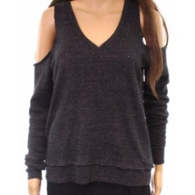Alternative オルタナティブ ファッション トップス Alternative NEW Gray Womens Size Small S Cold-Shoulder Speckle Sweater