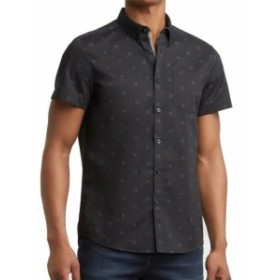 Kenneth Cole ケネスコール ファッション アウター Kenneth Cole Mens Shirt Black Size Small S Button Down Short-Sleeve