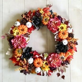 No. wreath-15099/ハロウィンリース 19-(29) 45x45cm/アーティフィシャルフラワー造花