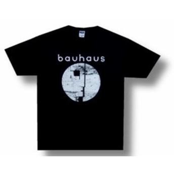ファッション トップス Bauhaus-Distressed Face Logo-2006 Tour-Black T-shirt
