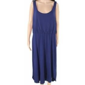 Tart タルト ファッション ドレス Tart Womens Dress Blue Size 1X Petite High Low Scoop Neck Sheath