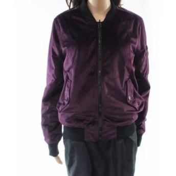 ファッション 衣類 John + Jenn NEW Purple Velour Womens Size Small S Bomber Jacket