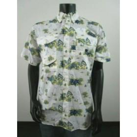 columbia コロンビア ファッション アウター Mens Columbia PFG Super Bonehead Classic Short Sleeve Fishing Shirt - Blue Fish