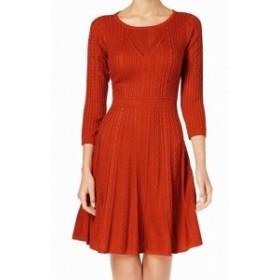Calvin Klein カルバンクライン ファッション ドレス Calvin Klein NEW Orange Womens Size XL Cable-Knit Sweater Dress