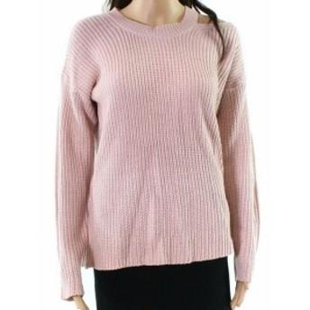 ファッション トップス RDI NEW Pink Shoulder Cutout Womens Size Medium M Pullover Sweater