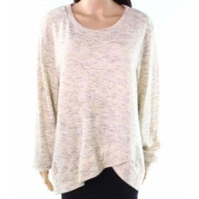 Mod-o-doc モドオードック ファッション トップス Mod-O-Doc NEW Beige Womens Size 1X Plus Pullover Crossover Sweater
