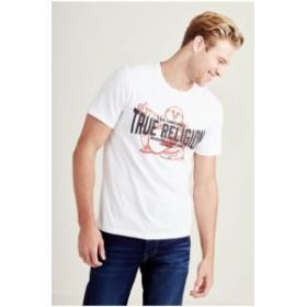 Religion  ファッション トップス True Religion Mens The OG Crew Neck Tee T-Shirt in True White (Size 2XL)