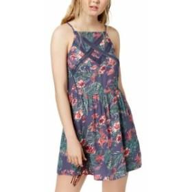 Roxy ロキシー ファッション ドレス Roxy Womens Blue Size Small S Floral Print Lace Trim Shift Dress
