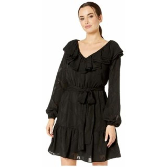 マイケル コース MICHAEL Michael Kors レディース ワンピース Vネック ワンピース・ドレス Paisley V-Neck Ruffle Dress Black