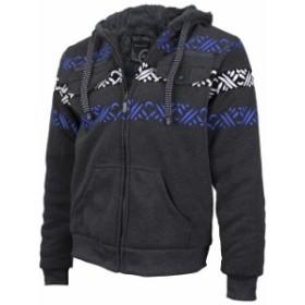 Tribal  ファッション トップス EKZ Mens Graphic Geo Tribal Fleece Lined Zip Up Sherpa Hoodie Jacket