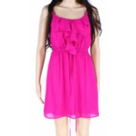 Ruffle  ファッション ドレス Designer Brand Womens Dress Purple Size Small S Sheath Ruffle Chiffon
