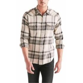 lucky ラッキー ファッション アウター Lucky Brand Mens Shirt Beige Size Medium M Western Plaid Button Down