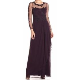 ファッション ドレス Decode 1.8 Womens Purple Size 10 Floral Embroidered Sheath Dress