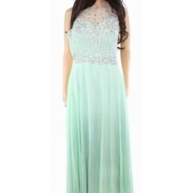 ファッション ドレス Designer Brand Womens Dress Mint Green Small S Mesh Embellished Gown