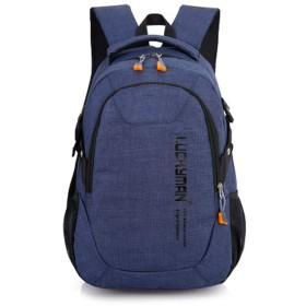 男性と女性のための学生バッグレジャー旅行バックパックナイロンスポーツバックパック-blue