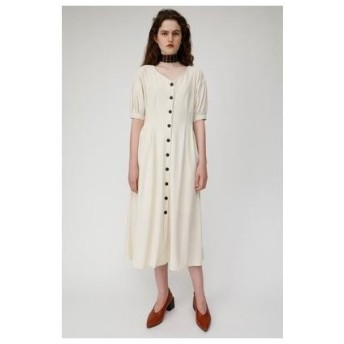 マウジー moussy WAIST TUCK LONG DRESS (アイボリー)