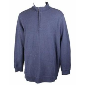 ファッション トップス Tasso Elba Navy Quarter-Zip Sweater XXL