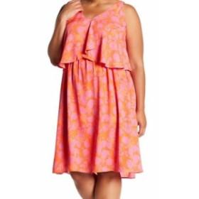 Bobeau ボビュ ファッション ドレス Bobeau NEW Blue Womens Size 1X Plus Floral Popover Sheath Dress