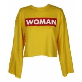 ファッション トップス The Style Club Yellow Long Sleeve Womens Dress Graphic Print Sweatshirt S