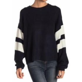 ファッション トップス John + Jenn Womens Blue Size XS Varsity Striped Pullover Sweater