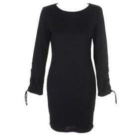 Robe  ファッション ドレス Vince. Camuto Riche Noir Cotele Grommet-Sleeve Robe Pull