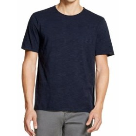 DKNY ダナキャランニューヨーク ファッション トップス DKNY Mens Blue Size XL Striped Crewneck Short-Sleeve Tee T-Shirt