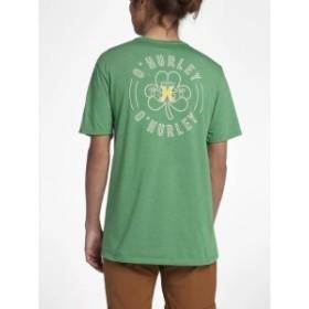 HEATHER  ファッション トップス Hurley Mens Irisher Tee T-Shirt - Gym Green Heather (Size Small & Medium)