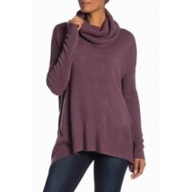 ファッション トップス Susina Womens Purple Flint Size Small S Cowl Neck Side-Spit Sweater
