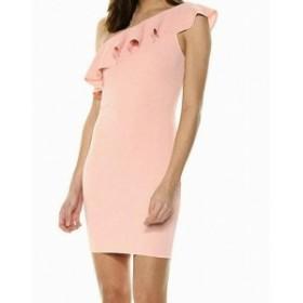 One  ファッション ドレス BCBG GENERATION Womens Sheath Dress Pink Size XS One Shoulder Textured