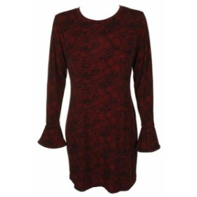 Michael Kors マイケルコルス ファッション ドレス Michael Michael Kors Petite Crimson Red Black Lace-Print Bodycon Dress PL