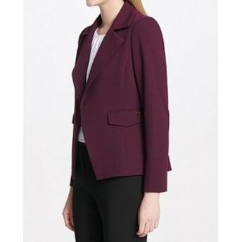 Blazer ブレザー ファッション フォーマル Calvin Klein Women Purple Size 24W Plus Open Front Notch Collar Blazer