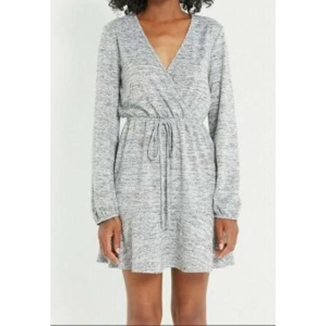 Soprano ソプラノ ファッション ドレス Soprano Womens Gray Size Small S V-Neck Drawstring Sheath Dress