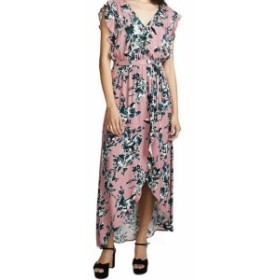 Splendid スプレンディッド ファッション ドレス Splendid Womens Pink Size XS Floral Print Ruffled Hi-Lo Maxi Dress