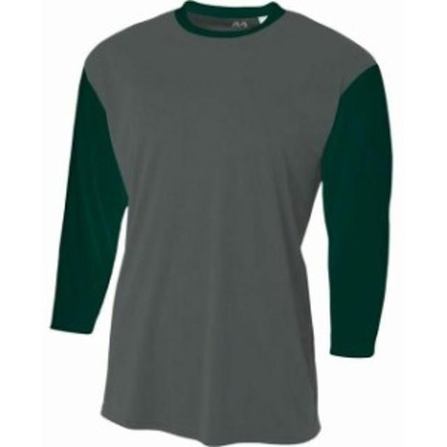 スポーツ用品 ベースボール A4 Mens 3/4 Sleeve Utility Baseball Shirt