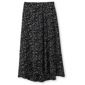 INDIVI(インディヴィ)バックサテンアニマルプリントスカート