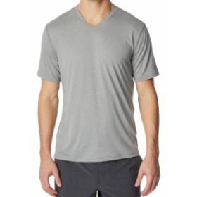HEATHER  ファッション トップス 32 Degrees NEW Heather Gray Mens Size 2XL Short Sleeve V Neck Tee Shirt #195