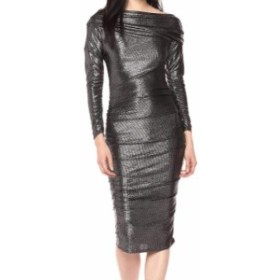 Rachel Roy レイチェルロイ ファッション ドレス Rachel Rachel Roy Womens Dress Silver Size Medium M Sheath Draped