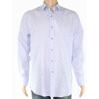 ファッション ドレス Bar III Mens Blue Dress Shirt Size Medium M Slim Fit Pineapple Print